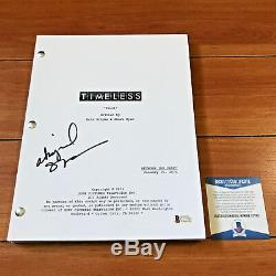 ABIGAIL SPENCER SIGNED TIMELESS FULL 59 PAGE PILOT SCRIPT with BECKETT BAS COA