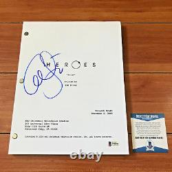 ALI LARTER SIGNED HEROES FULL 67 PAGE PILOT EPISODE SCRIPT with BECKETT BAS COA