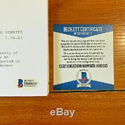 ALYCIA DEBNAM CAREY SIGNED THE 100 HUNDRES FULL PILOT SCRIPT with BECKETT BAS COA