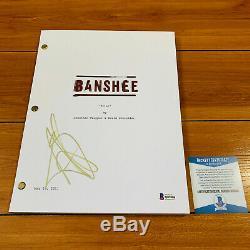 ANTONY STARR SIGNED BANSHEE FULL 61 PAGE PILOT SCRIPT with BECKETT BAS COA
