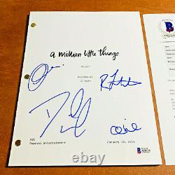 A MILLION LITTLE THINGS SIGNED PILOT SCRIPT BY 4 CAST MEMBERS with BECKETT COA