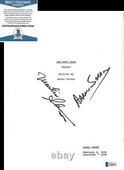 Aaron Sorkin Martin Sheen Signed The West Wing Pilot Episode Script Beckett Coa
