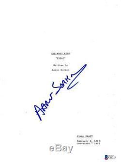 Aaron Sorkin Signed 86 Page The West Wing Pilot Script Authentic Autograph Coa