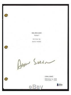 Aaron Sorkin Signed Autograph THE WEST WING Pilot Episode Script BAS Beckett COA