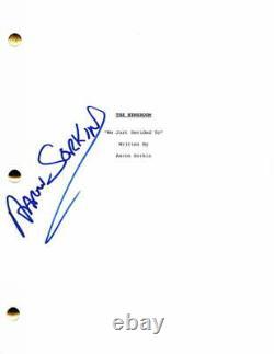 Aaron Sorkin Signed Autograph The Newsroom Full Pilot Script Jeff Daniels