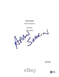 Aaron Sorkin Signed The Newsroom Pilot Script Beckett Bas Autograph Auto