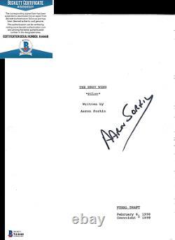 Aaron Sorkin Signed'the West Wing' Show Pilot Episode Script Beckett Bas Coa