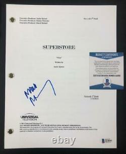 Actor Mark McKinney aka Glenn signed Superstore TV Pilot Script Beckett BAS COA