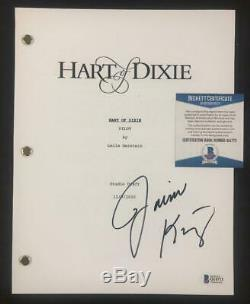 Actress Jaime King signed Hart of Dixie TV Pilot full Script Beckett BAS COA