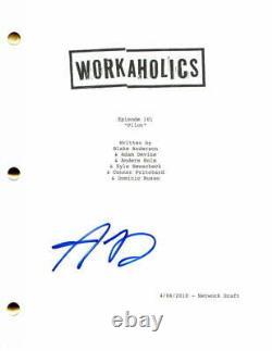 Adam Devine Signed Autograph Workaholics Full Pilot Script Pitch Perfect Star