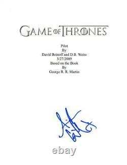 Aidan Gillen Signed Game Of Thrones Full Pilot Ep Script Authentic Autograph Coa