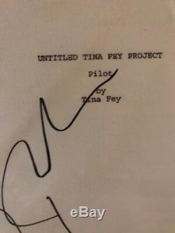 Alec Baldwin signed 30 Rock Pilot Script JSA Auth