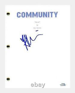 Alison Brie Signed Autograph COMMUNITY Pilot Episode Script Screenplay ACOA COA