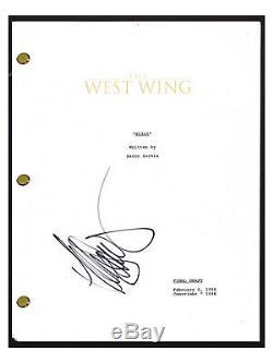 Allison Janney Signed Autographed THE WEST WING Pilot Episode Script COA