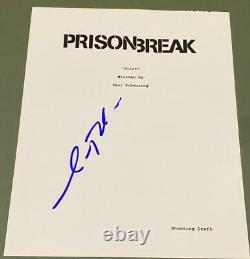 Amaury Nolasco Signed Autograph Prison Break Full Rare Show Pilot Script Coa