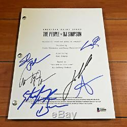 American Crime Story People V O. J. Simpson Signed Pilot Script By 6 Cast Members