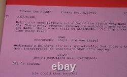Andromeda original pilot TV script Kevin Sorbo autographed Roddenberry STAR TREK