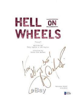 Anson Mount Signed Hell On Wheels Pilot Script Beckett Bas Autograph Auto