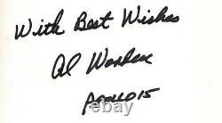 Apollo 15 Command Pilot Al Worden (deceased) RARE Hello Earth Signed Book