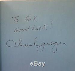 Autographed Press On Chuck Yeager Book Supersonic Fighter Pilot Military 1st Ed