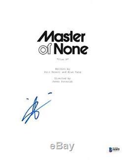 Aziz Ansari Signed Master Of None Pilot Script Beckett Bas Autograph Auto