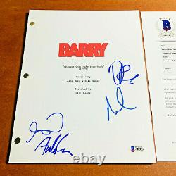 BARRY SIGNED PILOT SCRIPT BY 4 CAST MEMBERS ANTHONY CARRIGAN with BECKETT BAS COA