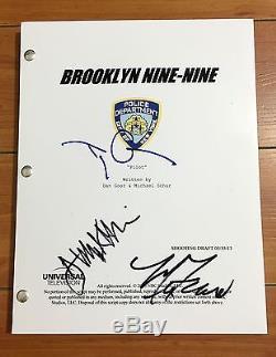 BROOKLYN NINE NINE 99 SIGNED PILOT SCRIPT BY x3 CAST TERRY CREWS MELISSA FUMERO