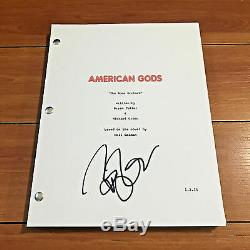 BRYAN FULLER SIGNED AMERICAN GODS FULL 58 PAGE PILOT SCRIPT with EXACT PROOF
