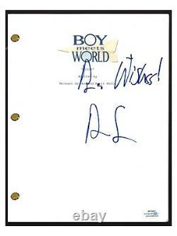 Ben Savage Signed Autographed BOY MEETS WORLD Pilot Episode Script ACOA COA