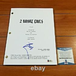 Beth Behrs Signed 2 Broke Girls Full Page Pilot Episode Script Beckett Bas Coa
