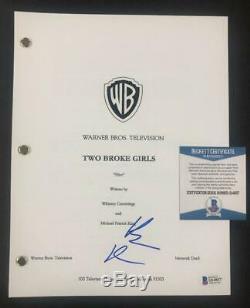 Beth Behrs autograph signed 2 Broke Girls TV Pilot Script Beckett BAS COA