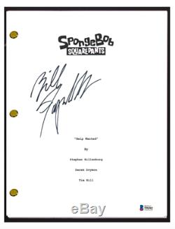 Bill Fagerbakke Signed Spongebob Squarepants Pilot Script Patrick Star BAS COA