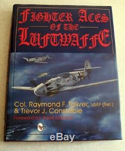 Book Fighter Aces of the Luftwaffe Aircraft SIGNED BY BOTH AUTHORS & PILOT