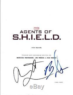 Brett Dalton & Adrianne Palicki Signed Agents of SHIELD Pilot Script COA VD