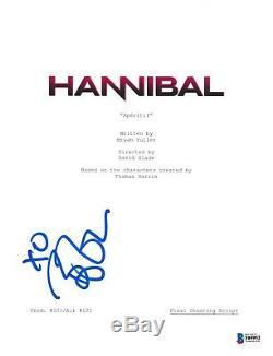 Bryan Fuller Signed Hannibal Pilot Episode Script Beckett Bas Autograph Auto