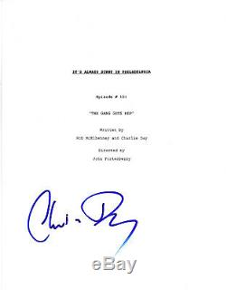 CHARLIE DAY SIGNED IT'S ALWAYS SUNNY IN PHILADELPHIA PILOT EPISODE SCRIPT withCOA