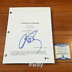 CHARLIE DAY SIGNED IT'S ALWAYS SUNNY IN PHILADELPHIA PILOT SCRIPT with BECKETT COA