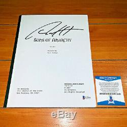 CHARLIE HUNNAM SIGNED SONS OF ANARCHY FULL PAGE PILOT SCRIPT with BECKETT BAS COA