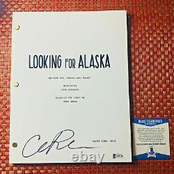 CHARLIE PLUMMER SIGNED LOOKING FOR ALASKA FULL PILOT SCRIPT with BECKETT BAS COA