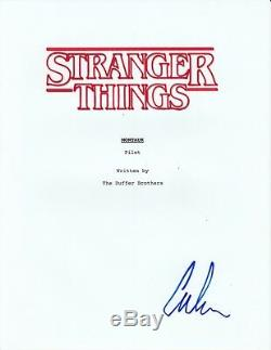 Caleb McLaughlin Signed Stranger Things Pilot Episode Full Script