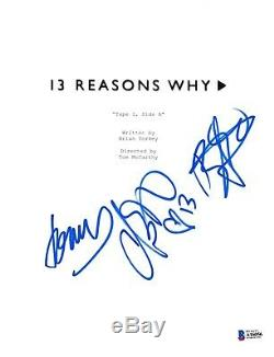 Cast Signed 13 Reasons Why Pilot Script Beckett Bas Autograph Auto Brandon Flynn