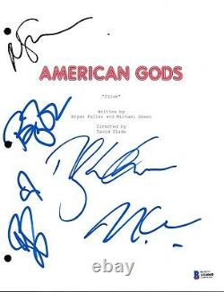 Cast Signed American Gods Pilot Script Beckett Bas Autograph Auto Neil Gaiman
