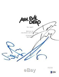 Cast Signed Ash Vs Evil Dead Pilot Script Beckett Bas Autograph Auto Campbell