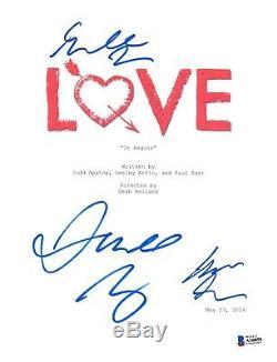 Cast Signed Love Pilot Script Beckett Bas Autograph Auto Gillian Jacobs