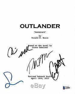 Cast Signed Outlander Pilot Script Beckett Bas Autograph Auto Heughan Balfe