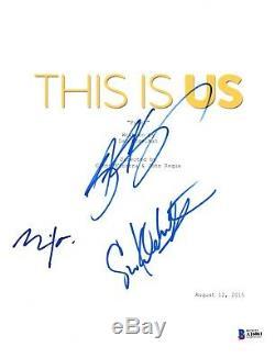 Cast Signed This Is Us Pilot Script Beckett Bas Autograph Auto Justin Hartley
