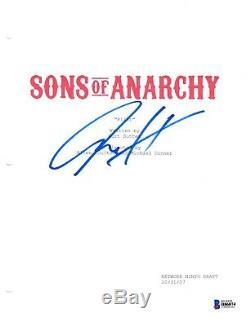 Charlie Hunnam Signed Sons Of Anarchy Pilot Script Beckett Bas Autograph Auto