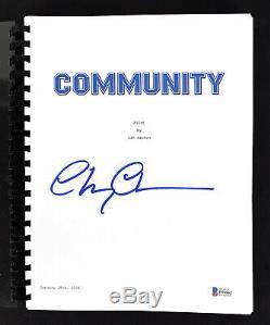 Chevy Chase Community Signed Pilot Episode Tv Script Autographed BAS