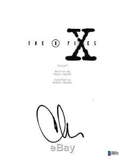 Chris Carter Signed The X-files Pilot Episode Script Beckett Bas Autograph Auto