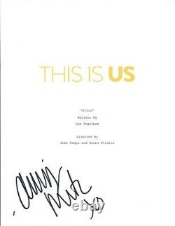 Chrissy Metz Signed Autographed THIS IS US Full Pilot Episode Script COA